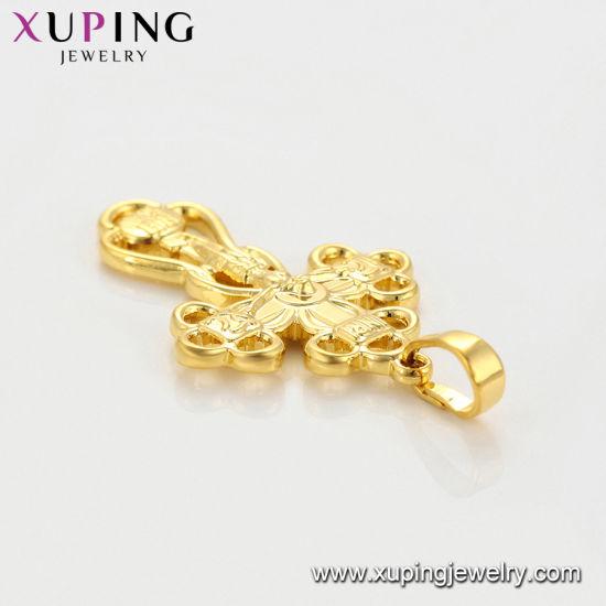 d5d0ad43211d1 24K Gold Big Flower Jewelry Necklace Pendant