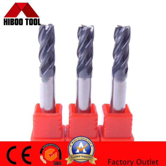 Tungsten Carbide Cutters Solid Carbide End Mill for 4 Flute