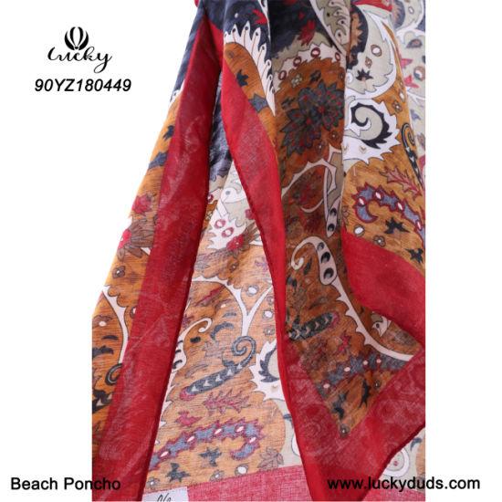 Custom Wholesale Fashion Clothes Poncho Shawl