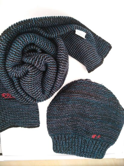 ba9bc3a1d894f China Fashion Mix Color Yarn Winter Set Knitted Hat Beanie   Knitted ...