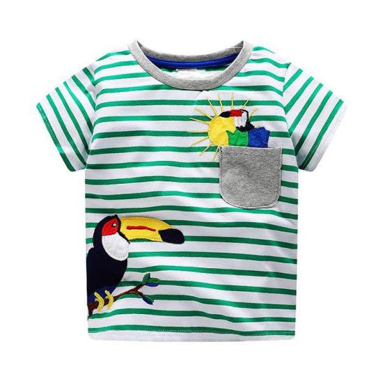 Fashion Kids Custom Made Clothes Cartoon Animal Printed Tee Baby Cotton T-Shirt