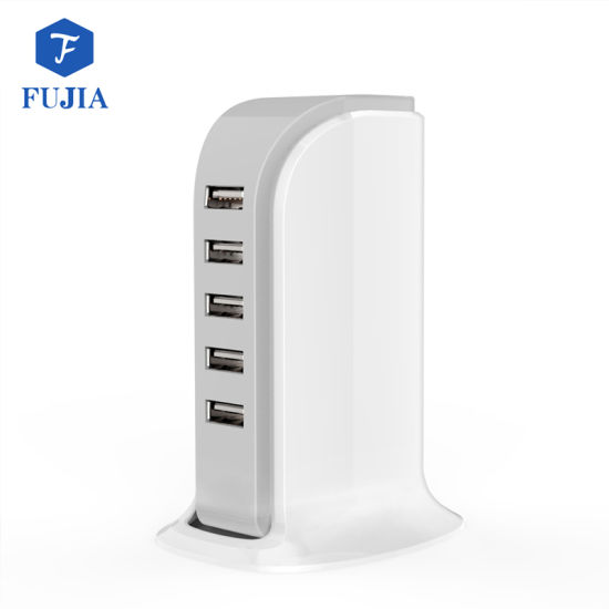 2018 Hot Selling 5V 4A Mini 5 USB Port USB Desktop Charger Mobile Accessories Phone Home Charger 5 USB pictures & photos