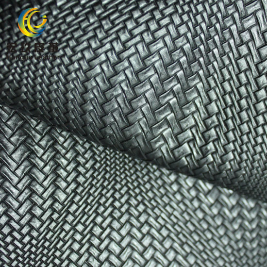 Rattan Weave Pattern PVC Decorative Leather for Decorative Project