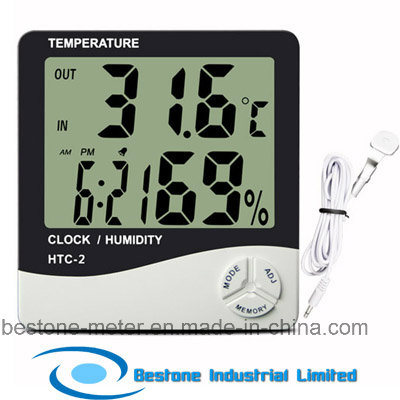 Hygro-Thermometer Clock & Calendar with Indoor and Outdoor Temperature (HTC-2) pictures & photos