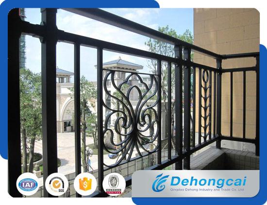 Modern Decorative Wrought Iron Balcony Railing Designs / Metal Balcony  Railing