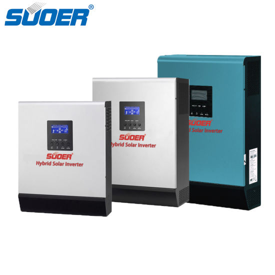 Suoer Hot Sale 12V 24V 48V 1000va to 5000va Pure Sine Wave Hybrid Solar Inverter with PWM Solar Controller pictures & photos