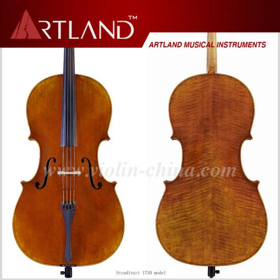China Stradivari 1710 Model Cello Solo Cello High Grade Antique