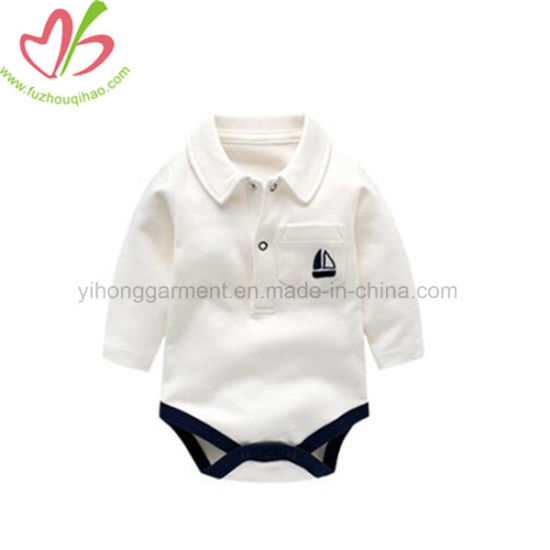 20a8f6e87d30 China 100% Cotton Handsome Baby Boy Polo T-Shirt Style Onesie ...