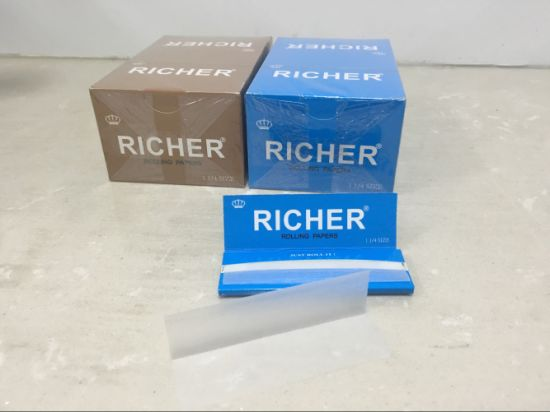 OEM Brand Gold King Size Slim +Tips Rolling Paper pictures & photos