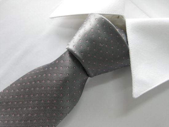 Grey Colour Men's High Quality Woven Silk Neckties