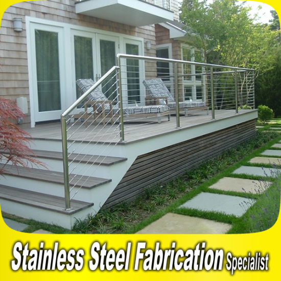 Stainless Steel Outdoor Metal Steps Handrail