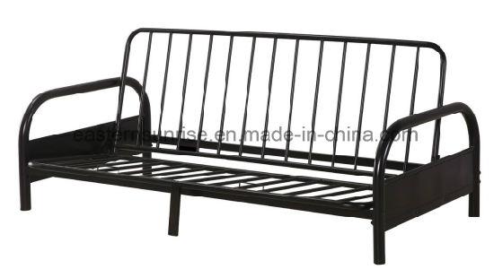 Family Use Metal Steel Iron Sofa Single Bed