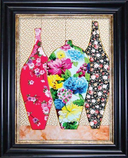 China Art Work Craft Frame Collage Patchwork Decorative Painting