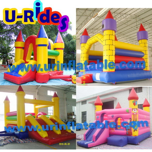 Commercial grade inflatable toy Christmas bouncy castle inflatable Bouncer with slide pictures & photos