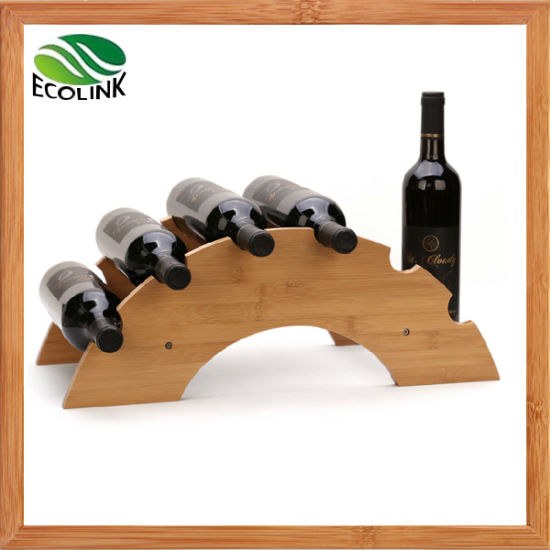 Rainbow Shaped Bamboo Wine Stand / Wine Display Holder
