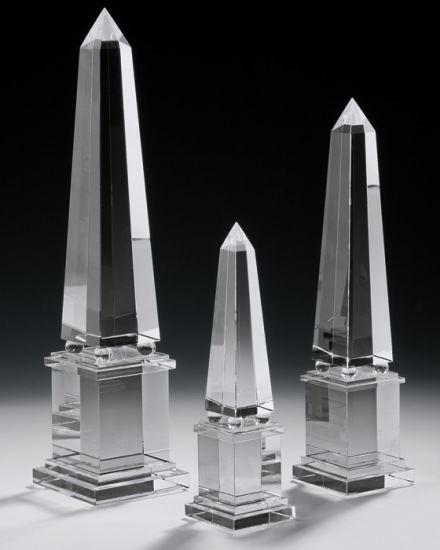 Hand-Crafted Solid Crystal Obelisks for Home Decoration (CA8241/42/43)