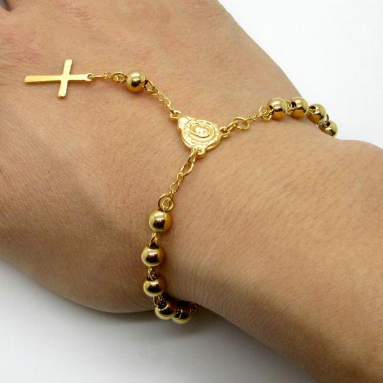 China Catholic Saints Stainless Steel Rosary Cross Jesus Religious