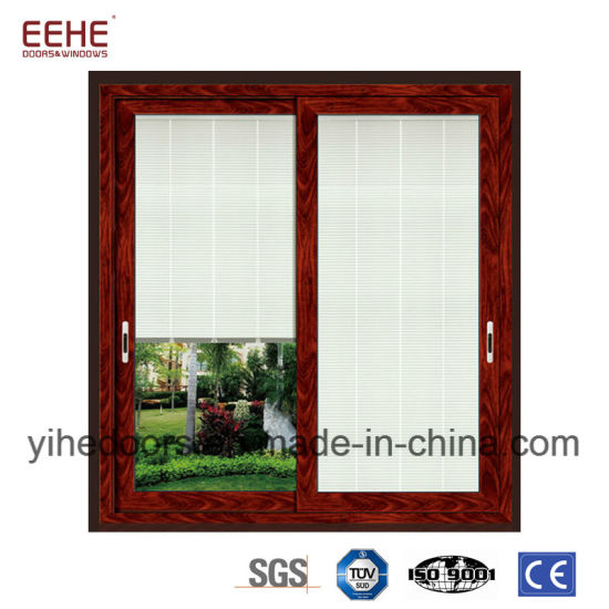 China Aluminum Profile Electric Door Glass Inserts Soundproof