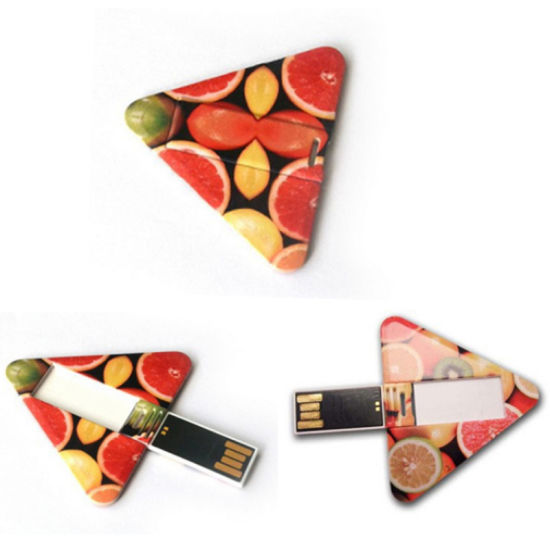 Triangle Card-Shaped USB Flash Drive, Card USB Flash Drive/1GB USB Card/Custom USB Flash Drive