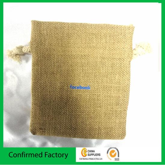 Gifts Packaging Jute Burlap Sacks Gift Bag with Logo Printing