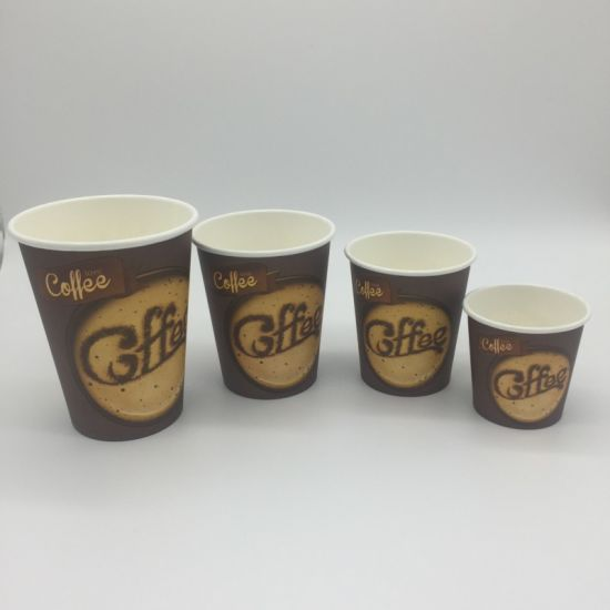 Printed Disposable Paper Cup 4 Oz 6 Oz 8 Oz 12 Oz 16 Oz