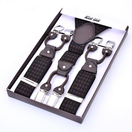 Jacquard Elastic Webbing Braces Fashion Design Webbing Man Suspender (RS-17019D)