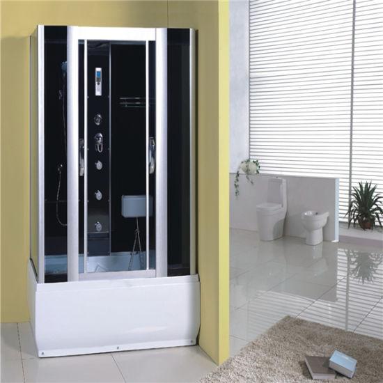 Bathroom Rectangular Hydro Shower Cabin with Sliding Door Body Jet