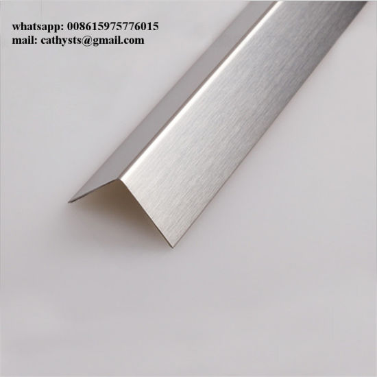 China L Shaped Tile Trim Stainless Steel Hairline Finish - China