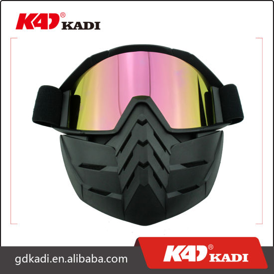 7a473d99d3af Customized Outdoor Sports Goggles Full Face Mask Goggles with Detachable  Nose Mouth Guard
