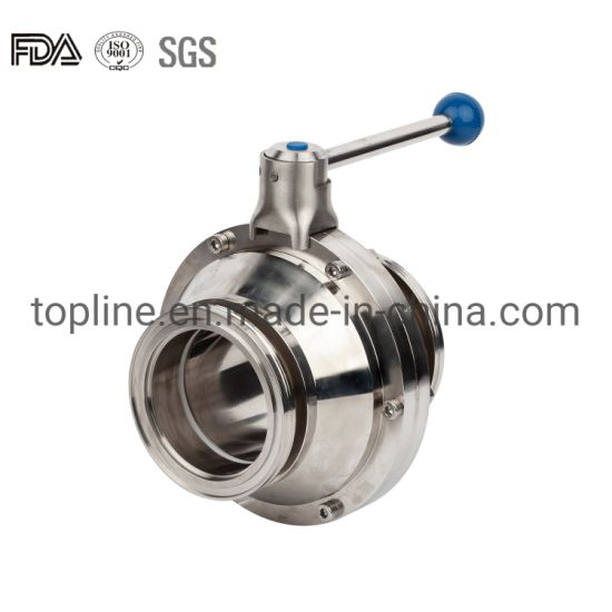Stainless Steel Sanitary Tri Clamp Butterfly Type Ball Valve