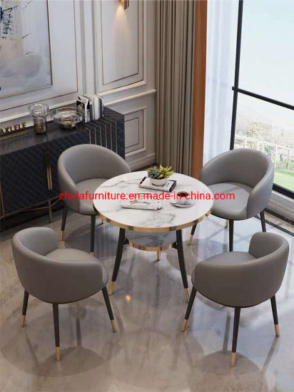 Round Modern Cafe Restaurant Furniture with Table Chair pictures & photos