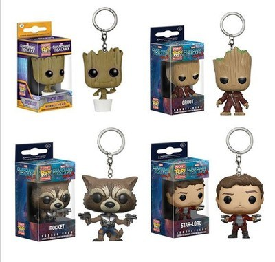 Hotsale Galaxy Convoy2/ Star Rocket Raccoon/ Tree Person Groot Keychain pictures & photos