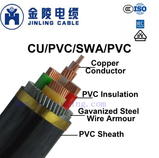 Nyry 0.6/1kv Low Voltage PVC Insulated Power Armoured Cables