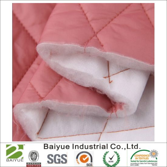 Quilted Fabric Polyester Wadding for Jacket / Coat