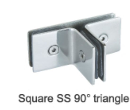 Mirror Finish Glass To Glass Shower Bracket Shower Clamp