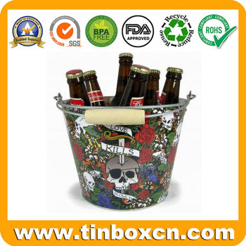 Galvanized Ice Metal Bucket with Food Grade, Tin Pail pictures & photos
