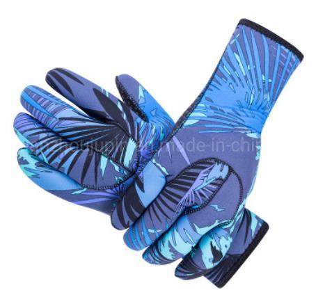 OEM Rubber Nylon Camouflage Snorkeling Adult Gloves