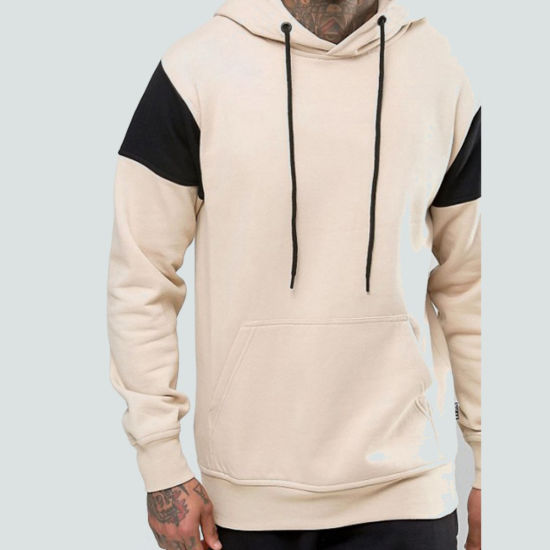 8b0e1ade972 High End Custom Logo Cotton Fleece Blank Pullover Men′s Hoodie with 2  Sleeves Color