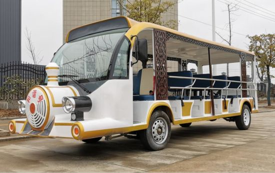 Ce Approved 23 Seats Electric Sightseeing Bus Electric Shuttle Car pictures & photos