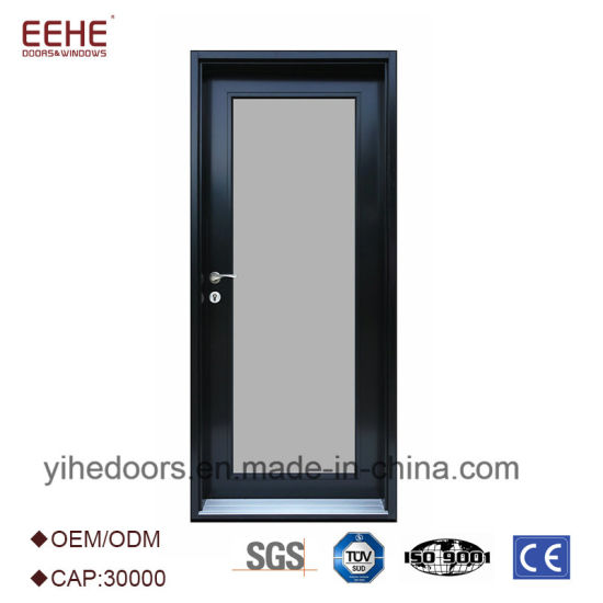 China Interior Office Door With Glass Window Aluminum Double Swing