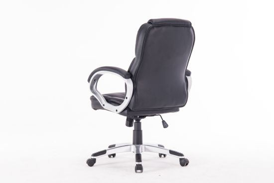 High Back Emes Style Swivel Leather Office Chairs With Wheels