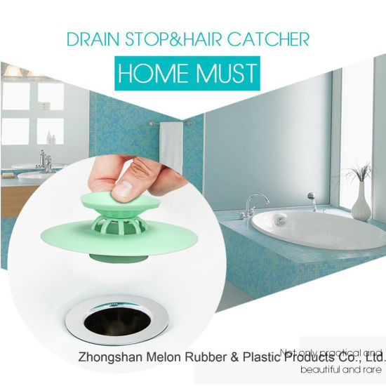 Shower Drain Stopper Plug Bathtub Cover Portable Silicone Sink Strainers