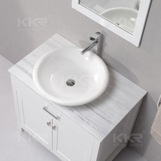 Modern Bathroom Furniture Stone Vanity Countertop Wash Basin