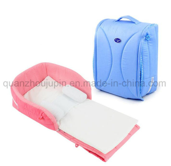 OEM Outdoor Portable Washable Cotton Handle Bag Baby Cot Crib Bed