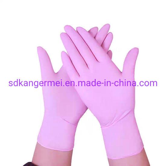 Manufacturer Medical Disposable Anti Bacterial Blue Safety Nitrile Gloves