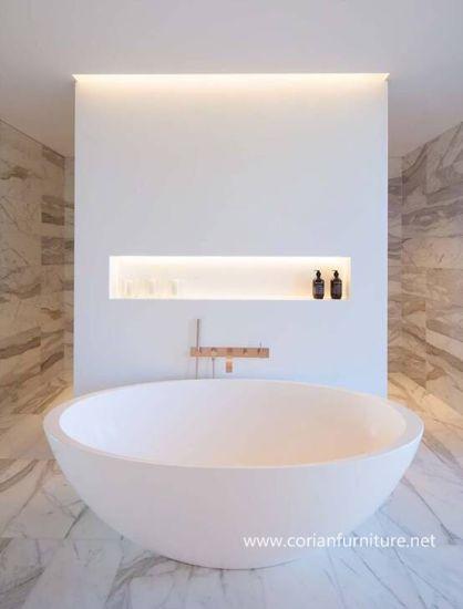 Modern Design Corian Round Bathtub