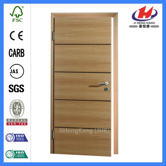 MDF HDF Commercial Bathroom Laminated Wood Door (JHK FC01)