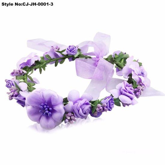 China Fasihon Silk Flower Garland For Christmas And Wedding