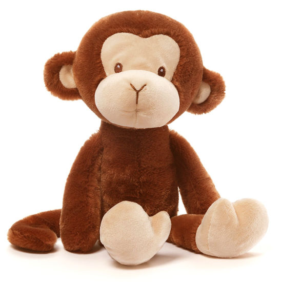 Monkey Stuffed Soft Fluffy Plush Animal Sitting Custom Ce Toy