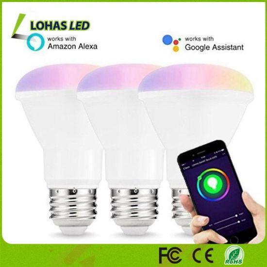 China 8W E26 Br20 Smart Light Google Home Alexa/Alexa Voice
